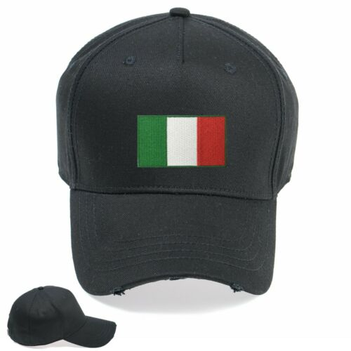 Italy Flag Funny Embroidered Vintage Hat Cap Beanie Snapback Weathered