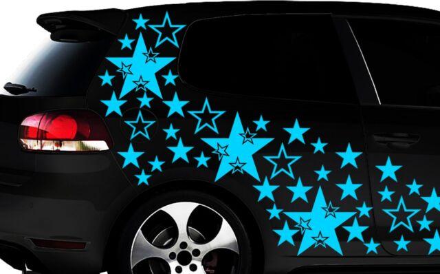 93-teiliges Sterne Star Auto Aufkleber Set Sticker Tuning WANDTATTOO Blumen xxxh