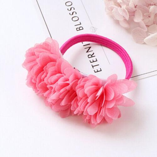 Multi-layer Flower Elastic Hair Bands Girls/' Hair Clips Kids Hair Accessories