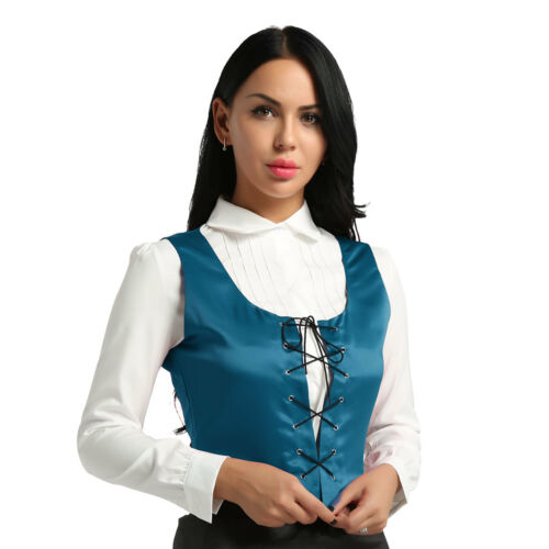 RENAISSANCE COSTUME DRESS-UP MEDIEVAL CORSET PIRATE LACE UP TOP WENCH BODICE