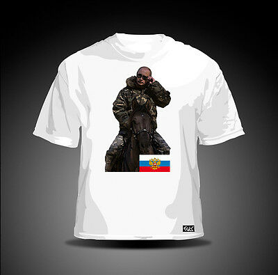 EAKS® HERREN T-SHIRT WLADIMIR PUTIN Weiß #5 Russland Russia Moskau Kreml moscow