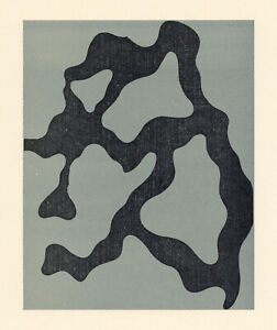 Jean-Hans-Arp-Original-Holzschnitt-Bedruckt-in-1954