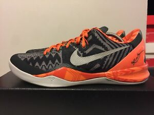official photos de2c2 83a6c Image is loading Nike-Kobe-8-System-BHM-Anthracite-Pure-Platinum-