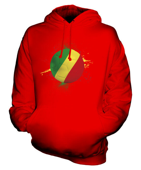 CONGO FOOTBALL UNISEX HOODIE TOP GIFT WORLD CUP SPORT