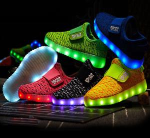 Impedir mundo Mesa final  Tenis de Luces para Niños y Niñas, Zapatillas para Jovenes, Zapatos con Luz  LED | eBay