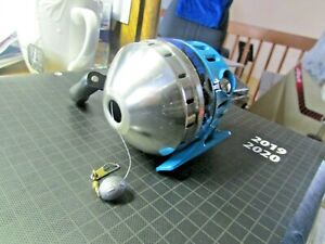 "~ Zebco Splash Spincast Blue Fishing Reel ~ All Metal Gears ~. ""lets Go Fishing"" ~~-afficher Le Titre D'origine"
