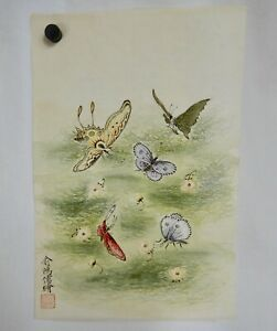 Chinese Butterflies Painting on Rice Paper - 81846