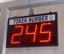 "Token Number Display with Human Voice Sound --3 digit display in 4"" LED digits"