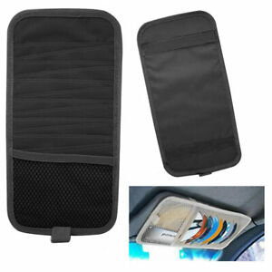 12-Disc-Capacity-CD-Car-Sun-Visor-Storage-Dvd-Holder-Black-Pocket-Case-Organizer