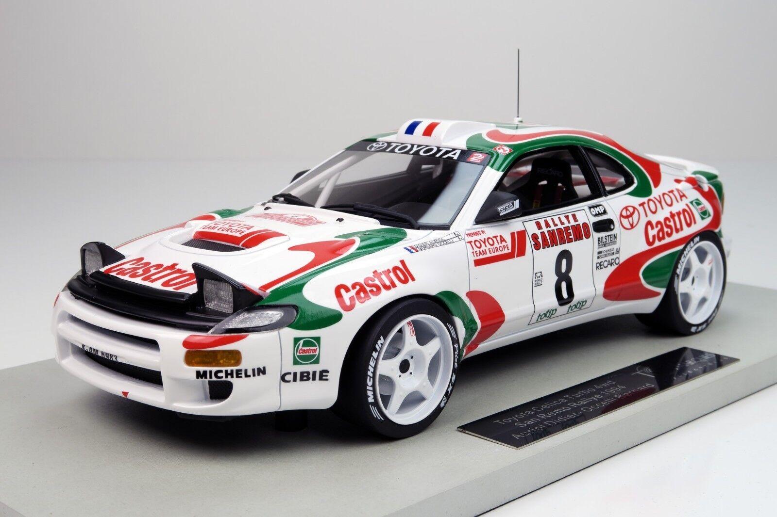 TOP MARQUES 034 C Toyota Celica ST 185 modèle voiture de course SAN REMO AURIOL 1994 1 18