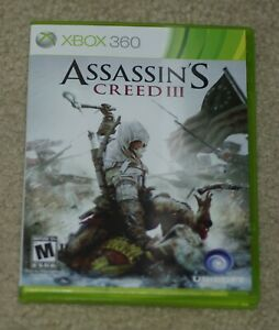Assassin S Creed Iii Xbox 360 Cover Art Manual Game Case No
