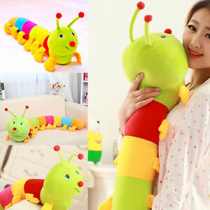 Colorfull-Baby-Kids-Children-Plush-Worm-Toys-Soft-Wild-Cuddle-Hold-Pillow-Animal