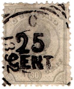 I-B-Netherlands-Antilles-Curacao-Postal-25c-on-30c-OP