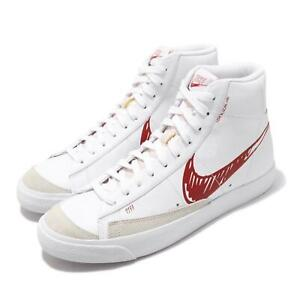 Nike-Blazer-Mid-VNTG-77-Sketch-White-Red-Women-Men-Vintage-Shoes-CW7580-100