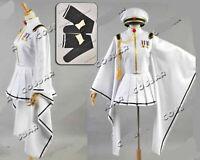 Vocaloid Hatsune Miku Senbon Sakura White Miku Cosplay Costume fancy Uniform