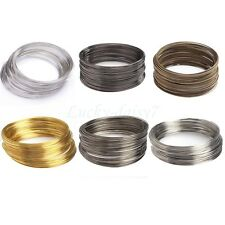 100/500 Circle Silver/Gold/Bronze Memory Steel Wire For Cuff Bangle Bracelet