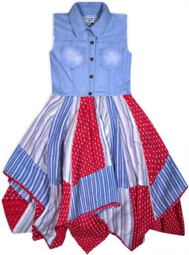 Girls Denim Cotton Dress Kids New Summer Party Dress Age 3 4 5 6 7 8 9 10 11 Yrs