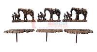 6 Rustic Praying Cowboy Craft Pin Nail Custom Work Cast Iron Western Tack Lot 3