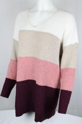 Torrid Multi Block Stripe Cross Back Knit Tunic Sweater Plus 1x /& 2X Stripe Mix