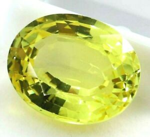 28.55 Ct Natural Yellow Sapphire Oval Cut AGSL Certified Loose Gemstone