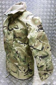 Genuine British Army MTP Lightweight Waterproof Jacket MVP Black Fleece Collar