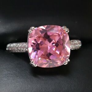 Sparkling-Princess-Pink-Sapphire-Ring-Women-Anniversary-Jewelry-14K-White-Gold