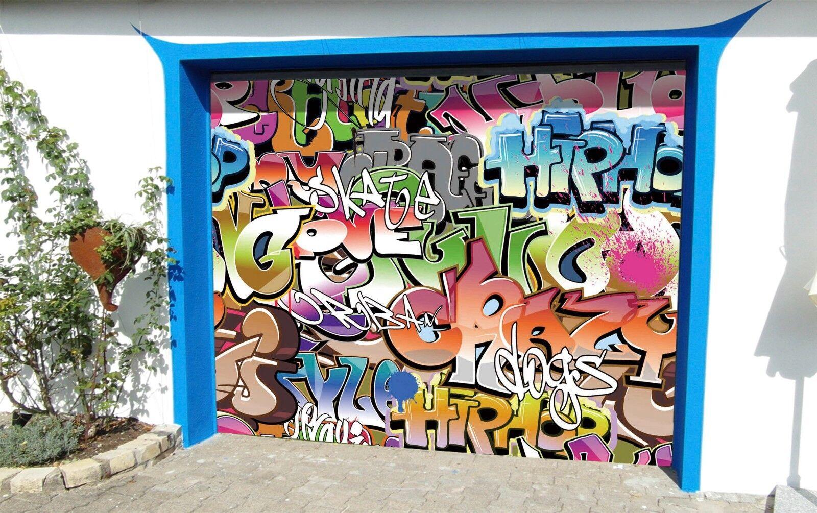 3D Farbe People 8 Garage Door Murals Wall Print Decal Wall AJ WALLPAPER AU Carly