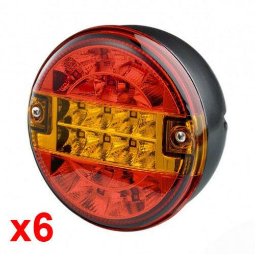 Six Genuine Trucklite Rubbolite 810/51/00 LED Hamburger Style Rear Lamps 12/24v