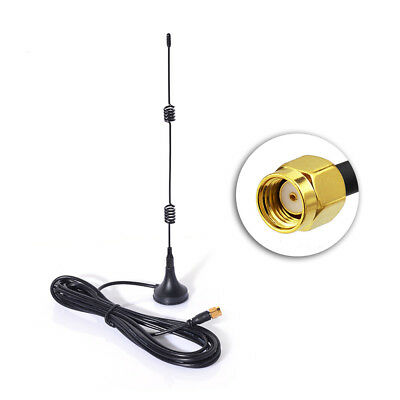 2.4GHz WiFi Router Booster 7dbi Magnetic Base Antenna RP-SMA 3m for TP-Link ASUS
