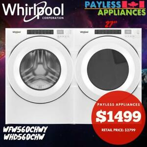 Whirlpool WFW560CHW 27 Closet-Depth Front Load Washer And Whirlpool YWHD560CHW Front Load Heat Pump Dryer Oakville / Halton Region Toronto (GTA) Preview