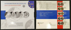Germany Official Blister With 5 Piece Silver Commemorative Coins 2008 Pf