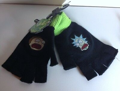 Rick and Morty official licensed fingerless gloves NWT