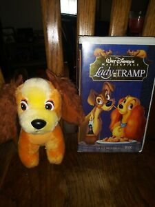 Walt Disney Lady And The Tramp Vhs Movie Tape And Plush Toy Ebay