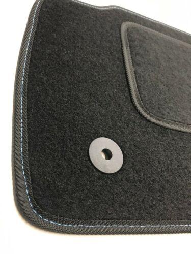 FORD Mondeo mk5 Premium Tappetini Anno 2014 VELLUTO Tappeti auto cuciture blu