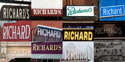 """photos of real name signs /""""RICHARD/"""" Coffee Mug Cup"""