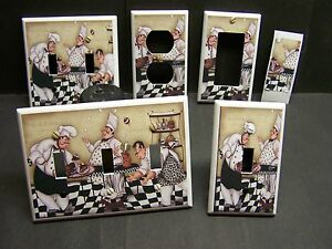 Fat Chef Pastry And Dog Home Decor Light Switch Cover Plate Or