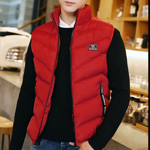 Detach Mens Quilted Coats Sleeveless Jacket Vest Cotton Padded Warmer Gilet Body