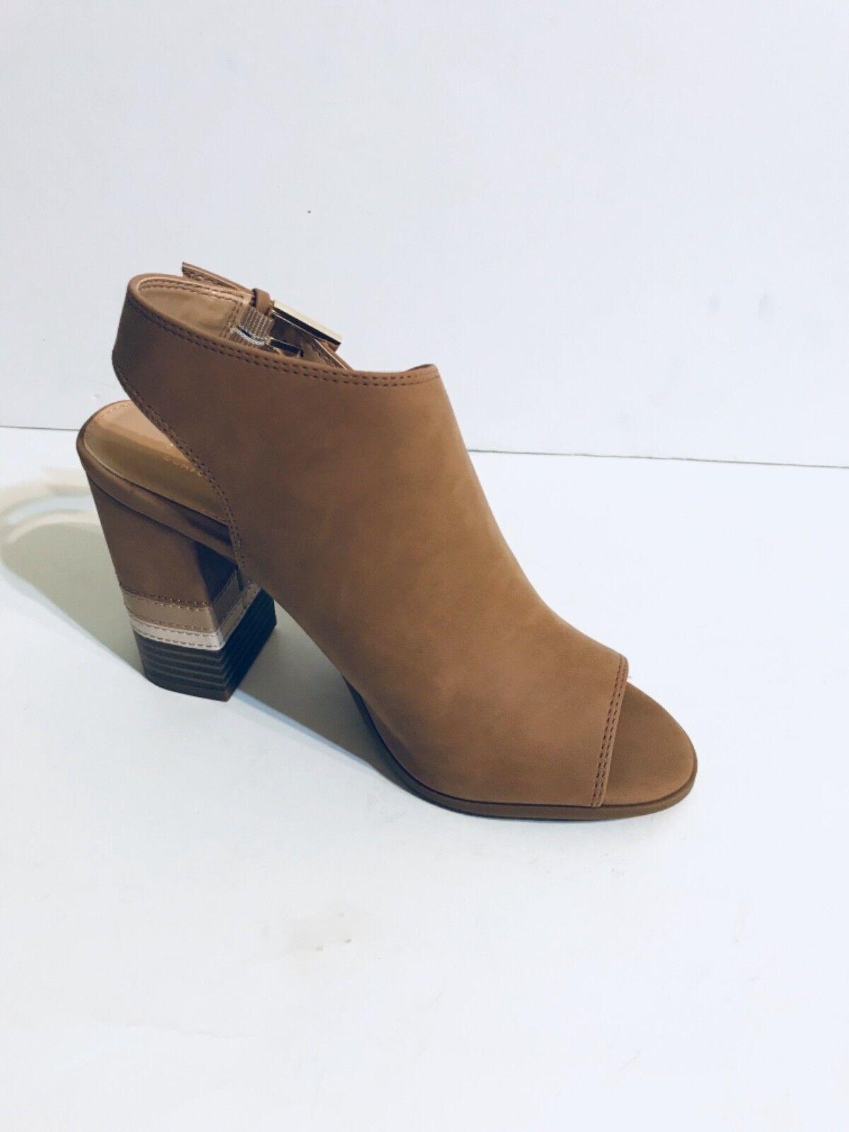 Apt.9 PROFESSION Femme Peep Toe Cheville Boot-taille 7-Cognac -