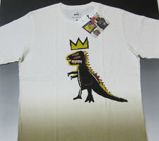 JEAN-MICHEL BASQUIAT x UNIQLO 'Pez Dispenser (Dinosaur)' T-Shirt Tonal M **NWT**