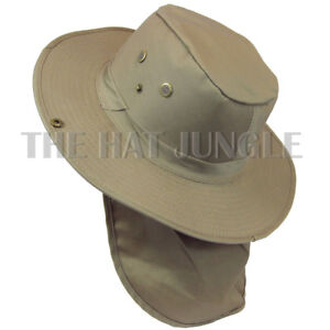 024783e7 Boonie Hat with Neck Flap Fishing Hiking Outdoor Cap Snap Wide Brim ...