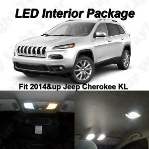 9 X White Smd Led Interior Lights Kit For 2014 2015 Jeep Cherokee Trailhawk Kl Ebay