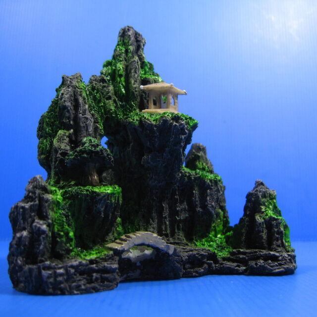 Mountain View Aquarium Ornament tree - Rock Cave stone decoration fish tank