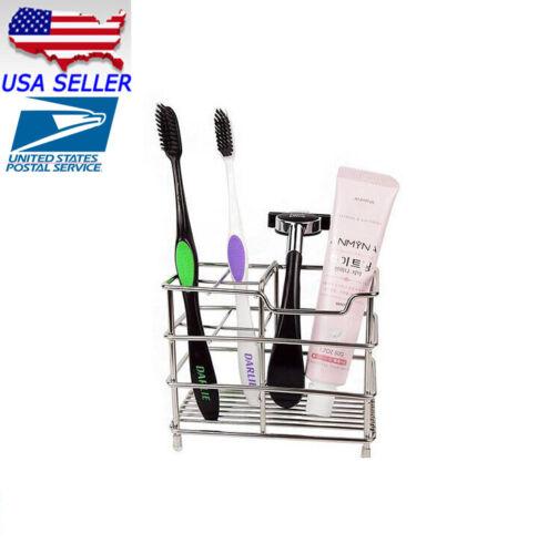 Stainless Steel Toothbrush Holder Toothpaste Razor Stand Rack Bathroom Organizer