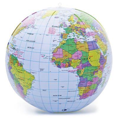H/&Y 90cm aufblasbare Weltkugel lehren Bildung Geographie Toy Beach Ball Globe Spielzeug f/ür p/ädagogisches Strandspielen