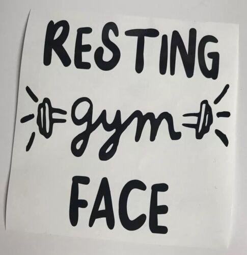 Resting Gym Face Vinyl decal Sticker Glitter For Water Bottle Ladies Men's sport