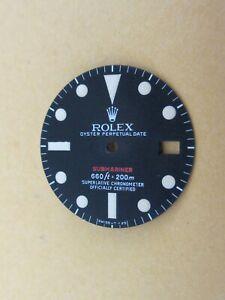 Vintage-Rolex-1680-RED-Submariner-RARE-Matte-Black-Repaired-Dial