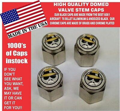 4 Chrome Domed Red Pontiac Motor Division PMD Valve Stem Caps  No ABS Plastic