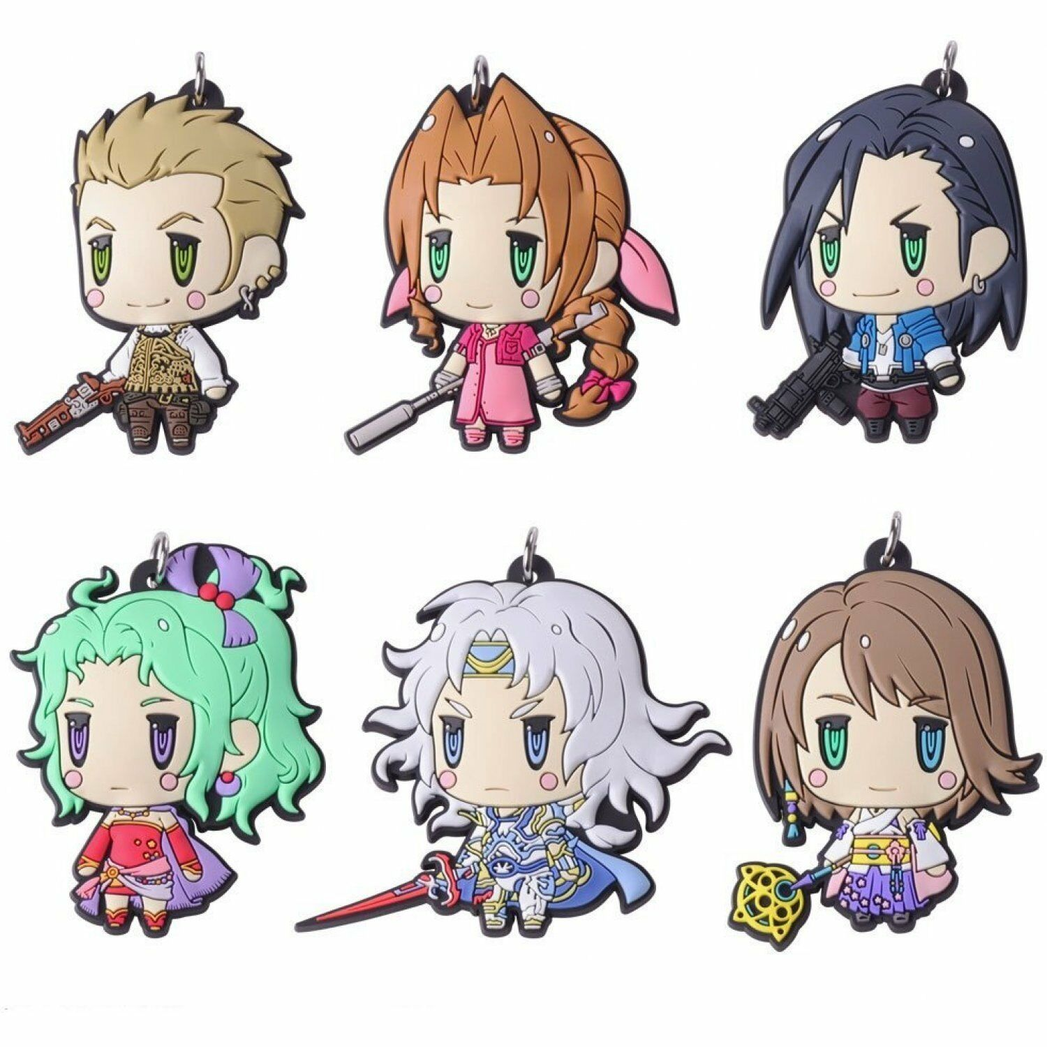 Final Fantasy Trading Rubber Strap Vol.4 BOX Item 1 BOX = 6 pieces, all 6 types