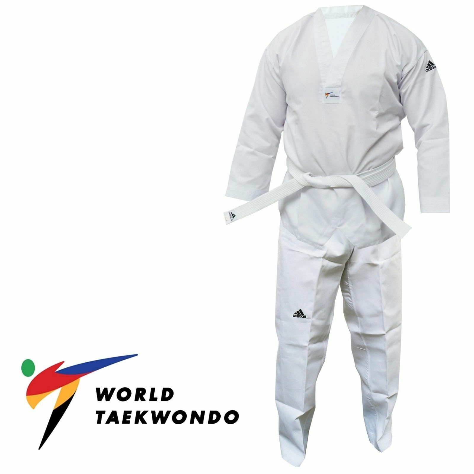 Adidas Taekwondo Suit WT Suit Adult Kids Dobok White Men Womens Boys WTF Uniform