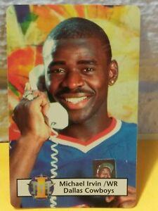 MICHAEL IRVIN DALLAS COWBOYS HOF 1993 IEM TELECOM AMCALL CALLING CARD SUPER RARE